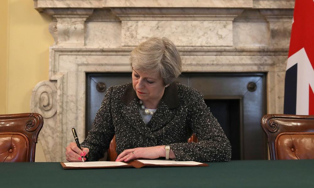 Prime Minister Theresa May triggeringArticle 50