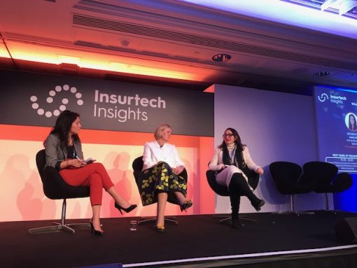 Catrin Shi, Acting Managing Editor, Insurance Insider, Amanda Blanc, CEO EMEA, Zurich, Pina Albo, CEO, Hamilton Insurance at Insurtech Insights